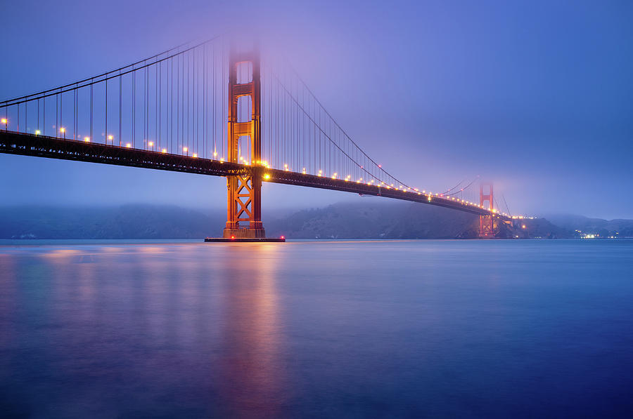 Fog City Bridge Photograph  - Fog City Bridge Fine Art Print