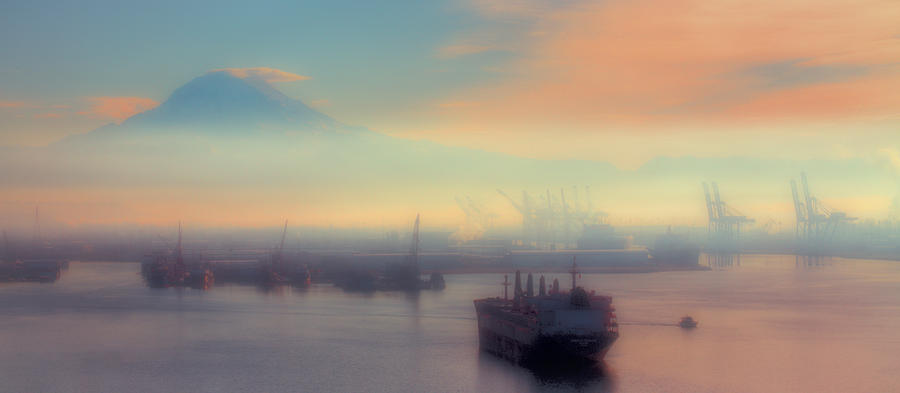 Fog Over The Tide Flats Photograph  - Fog Over The Tide Flats Fine Art Print