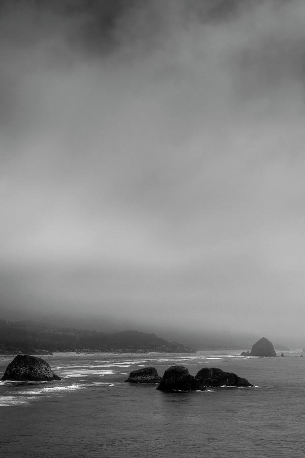 Foggy Beach Photograph