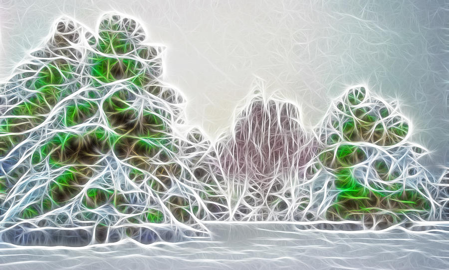 Foggy Morning Landscape 17 - Fractal Abstract Photograph