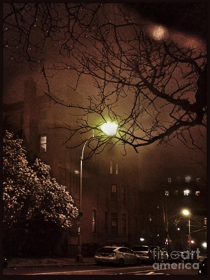 Foggy Night In Brooklyn Photograph  - Foggy Night In Brooklyn Fine Art Print