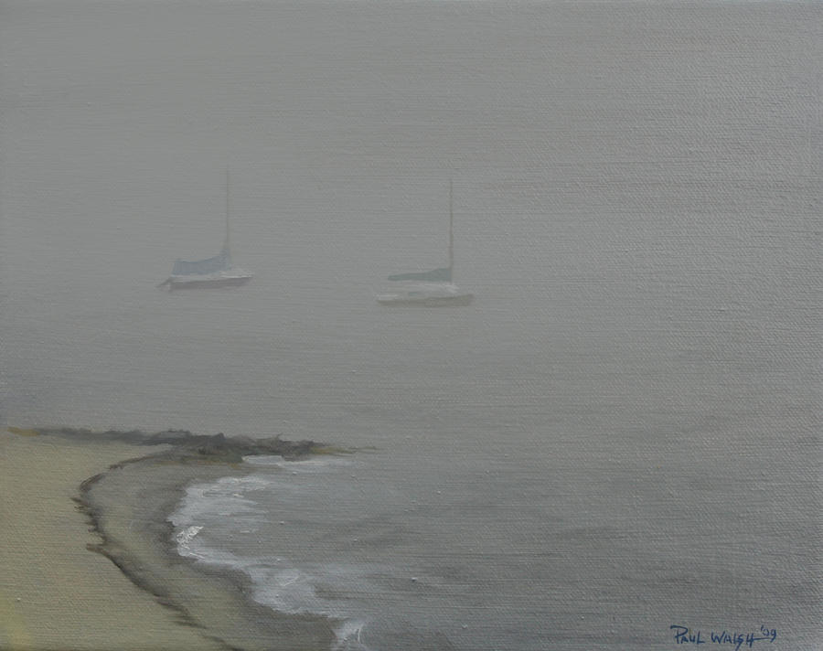 Foggy Shore Painting  - Foggy Shore Fine Art Print