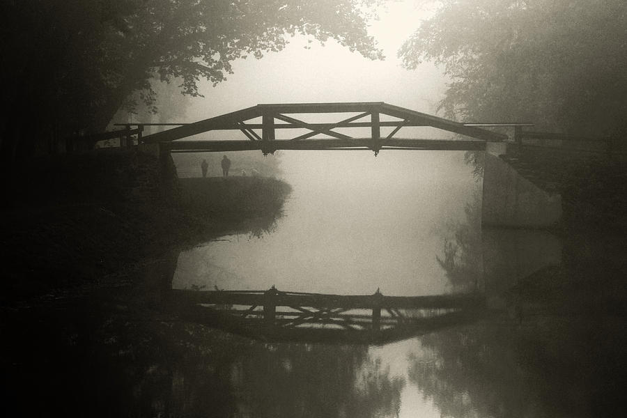 Foggy Washington Crossing Bridge Photograph  - Foggy Washington Crossing Bridge Fine Art Print