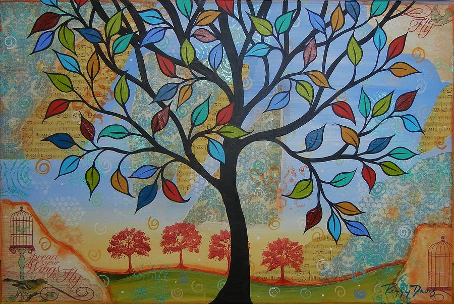 Folk Art Tree Painting