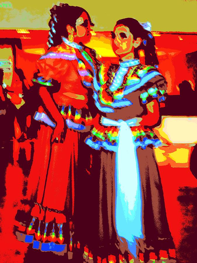 Folklorico Dancers Digital Art  - Folklorico Dancers Fine Art Print