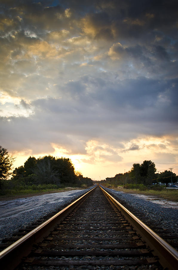 Follow The Tracks Photograph  - Follow The Tracks Fine Art Print