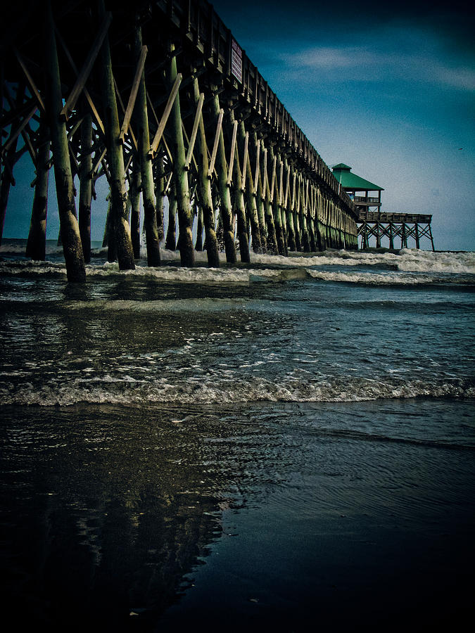 Folly Beach Pier Photograph  - Folly Beach Pier Fine Art Print