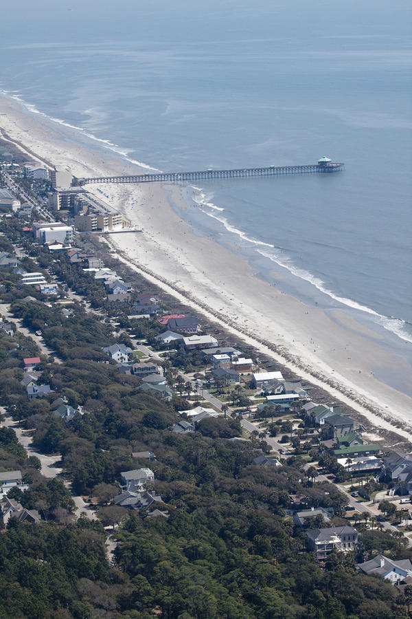 Folly Beach South Carolina Aerial Photograph  - Folly Beach South Carolina Aerial Fine Art Print