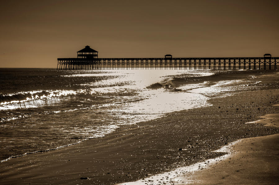 Folly Pier Sunset Photograph  - Folly Pier Sunset Fine Art Print