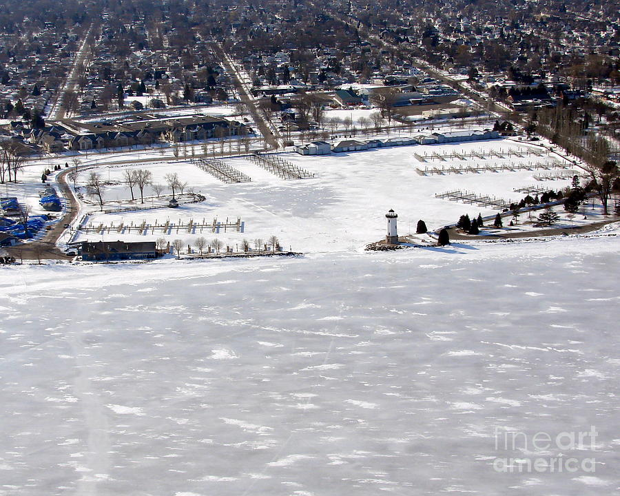 Fond Du Lac Harbor Frozen Photograph  - Fond Du Lac Harbor Frozen Fine Art Print