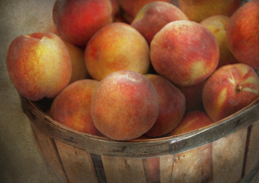 Hdr Photograph - Food - Peaches - Just Peachy by Mike Savad