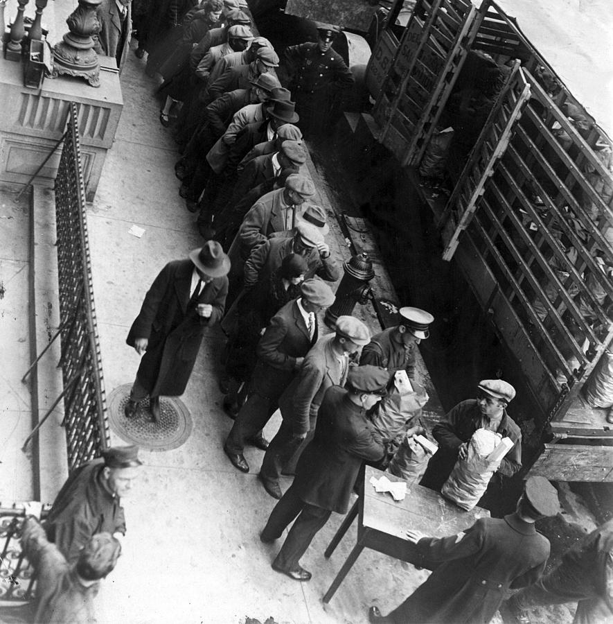 Food Handouts In New York In 1930 Photograph  - Food Handouts In New York In 1930 Fine Art Print