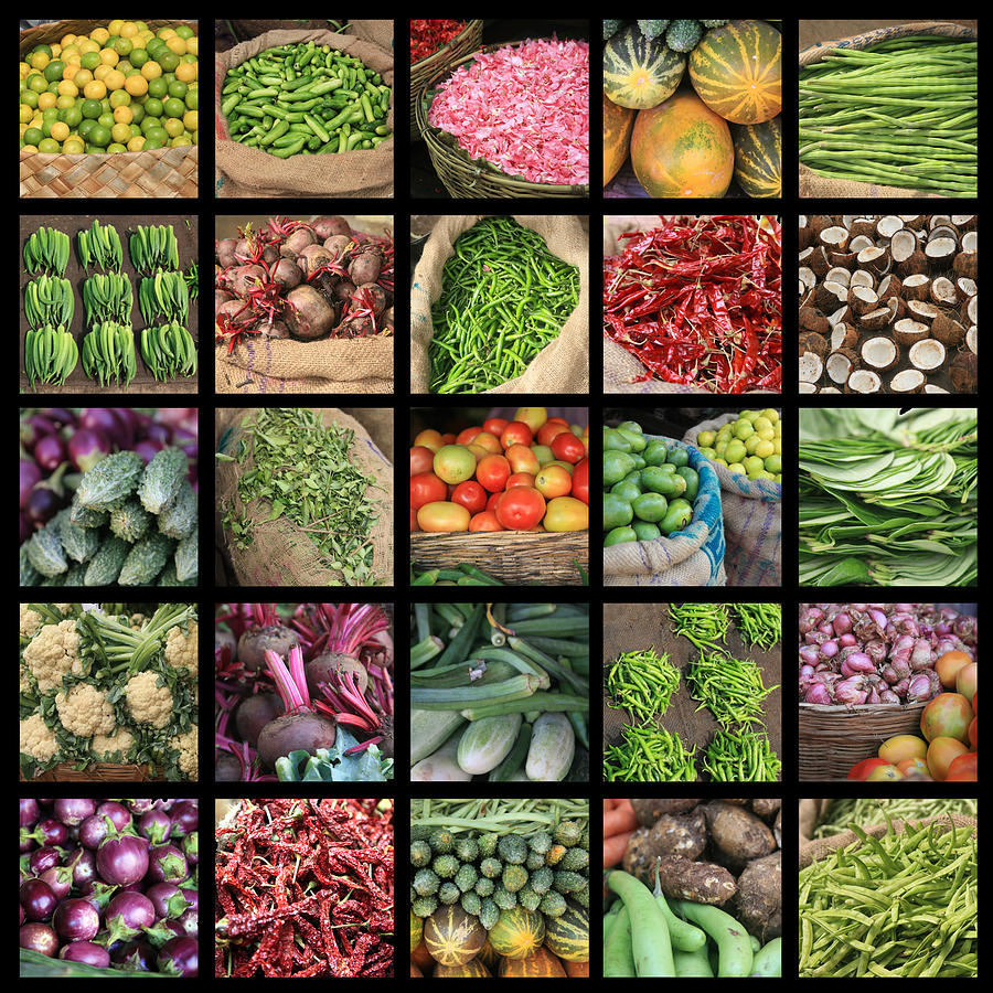 Food Kerala India Photograph by Pauline CutlerKerala Vegetable Market