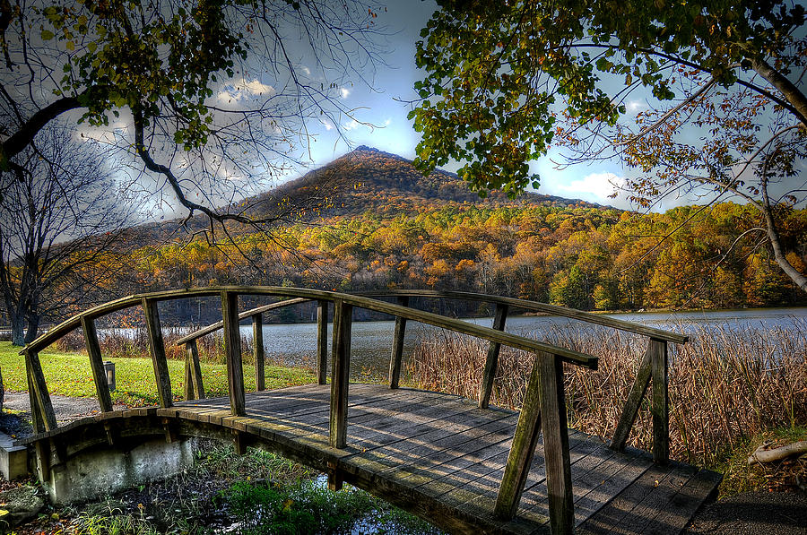 Foot Bridge Photograph  - Foot Bridge Fine Art Print