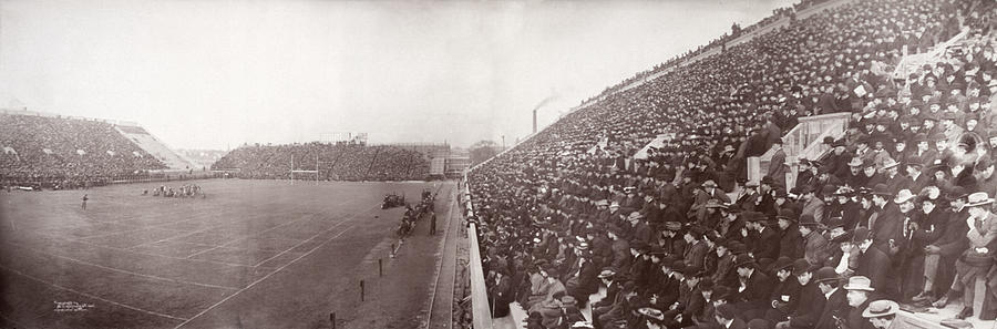Football, Panorama Of The Harvard - Photograph