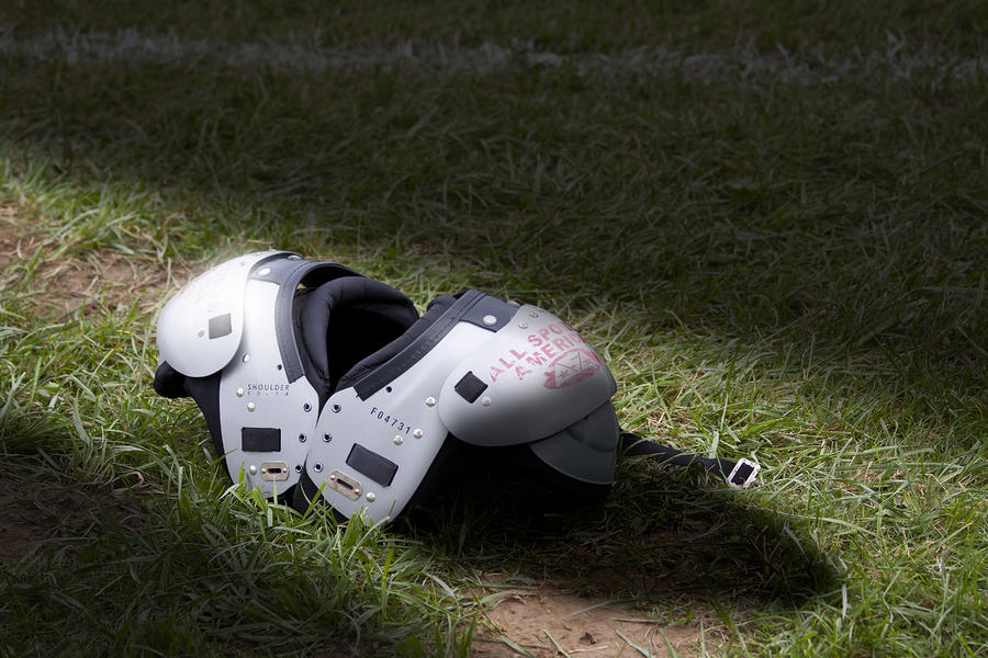 Football Shoulder Pads Photograph