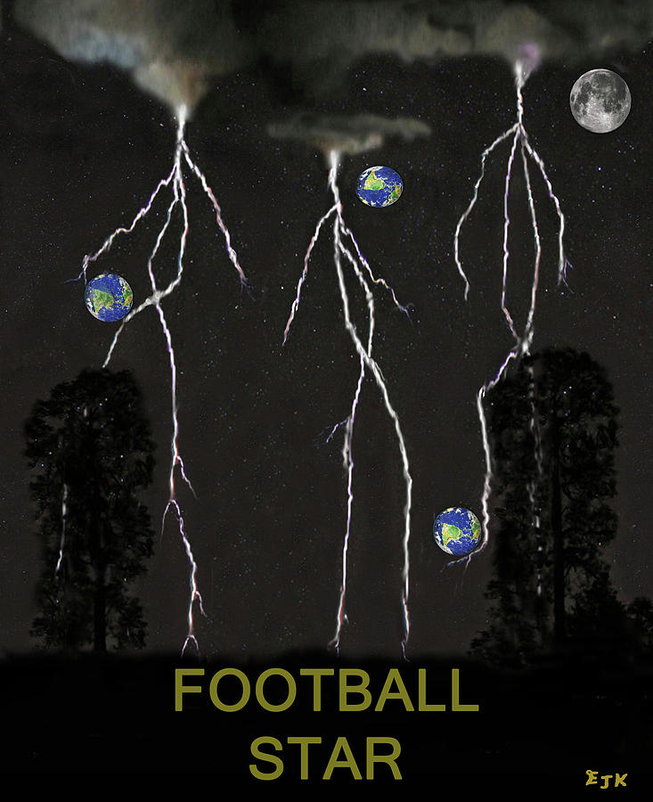 Football Star Mixed Media