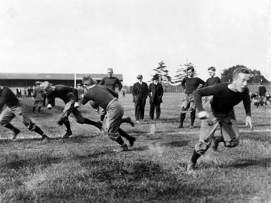 Football, Yale Football Team Practice Photograph  - Football, Yale Football Team Practice Fine Art Print