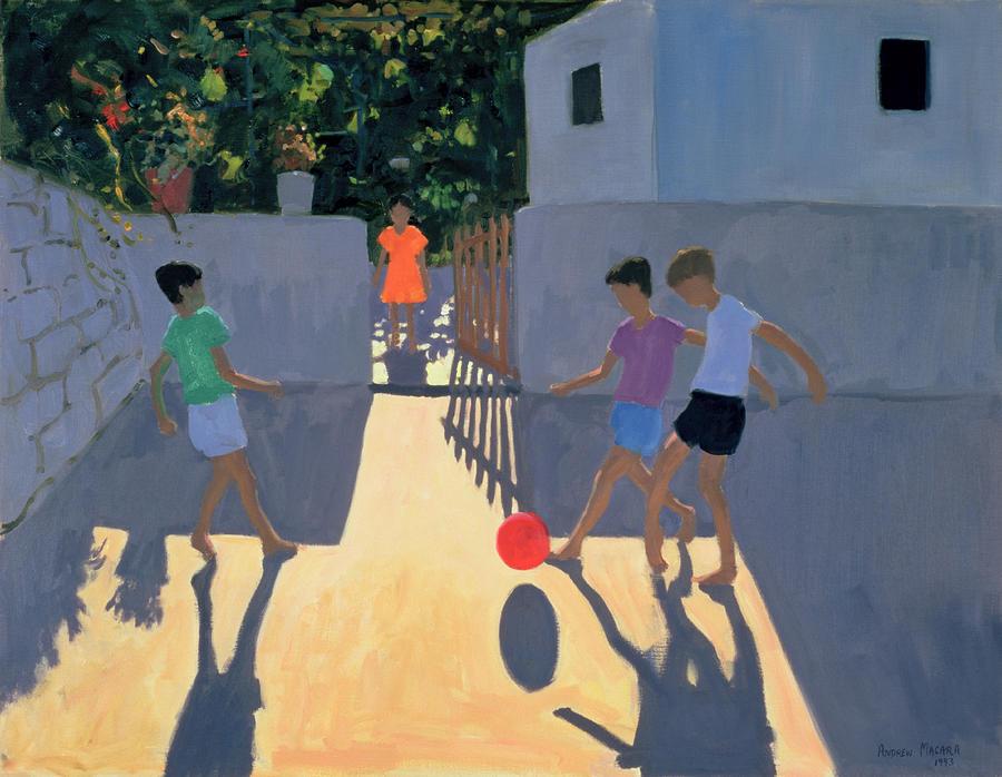 Footballers Painting