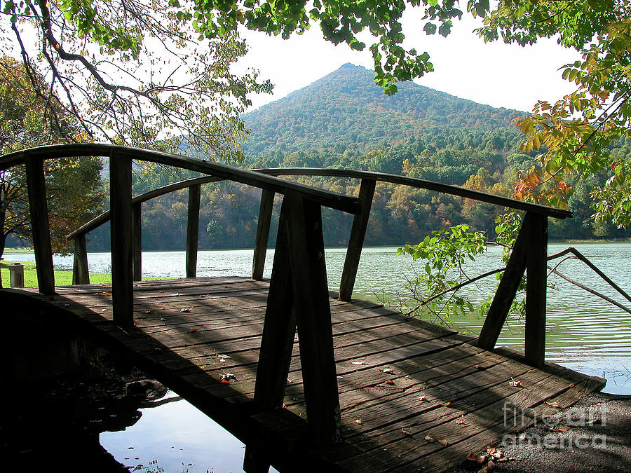 Footbridge Peaks Of Otter Photograph  - Footbridge Peaks Of Otter Fine Art Print
