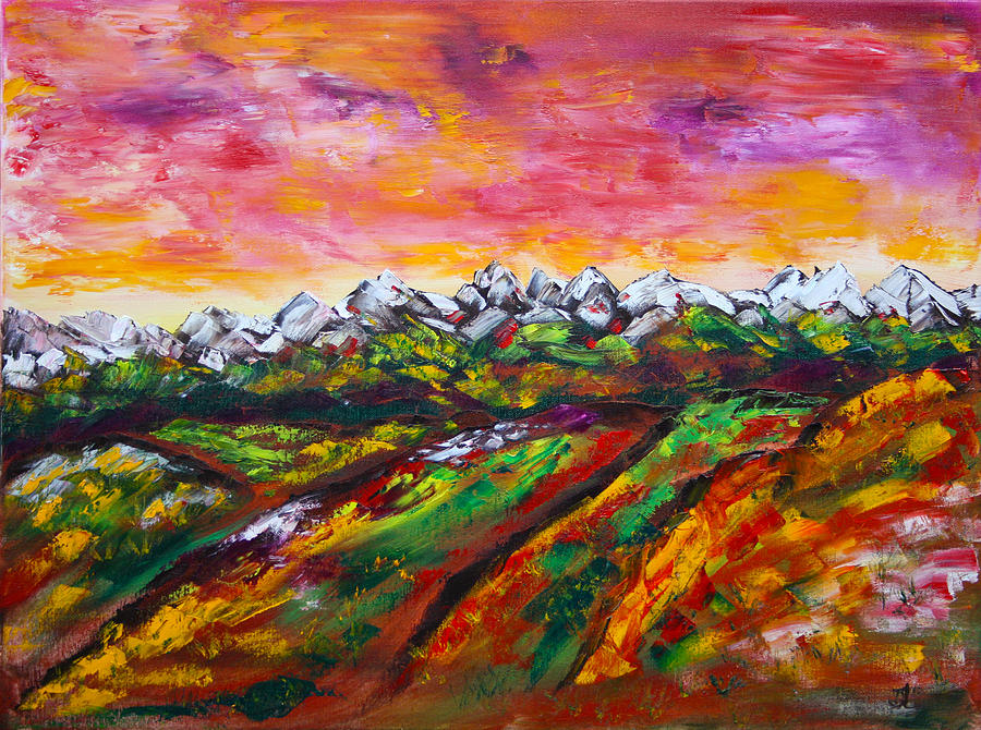 Foothills Fall Painting  - Foothills Fall Fine Art Print