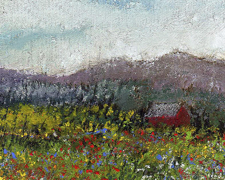 Foothills Meadow Painting