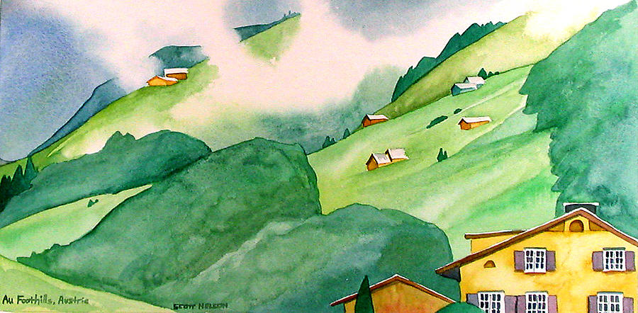 Foothills Of Au Painting  - Foothills Of Au Fine Art Print