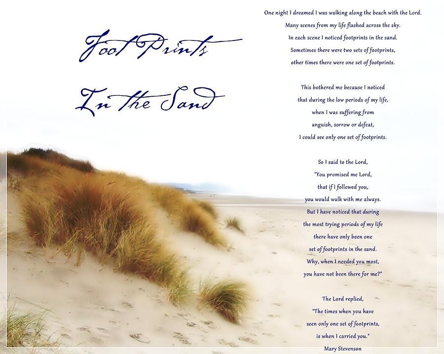 ... Art u0026gt; Photographs u0026gt; Footprints Sand Beach Oregon Dunes God Photographs