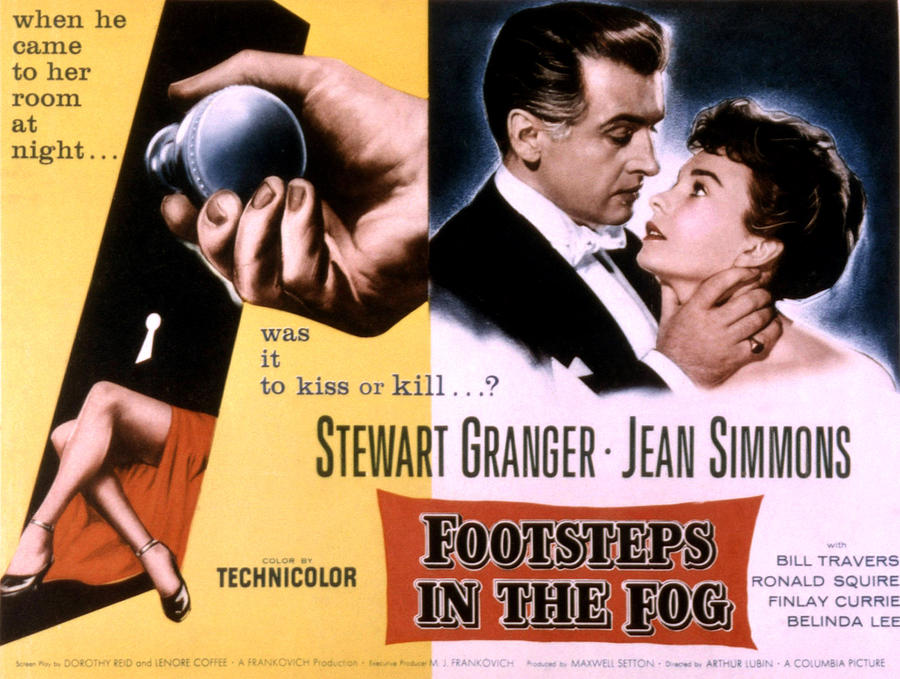 1950s Movies Photograph - Footsteps In The Fog, Stewart Granger by Everett