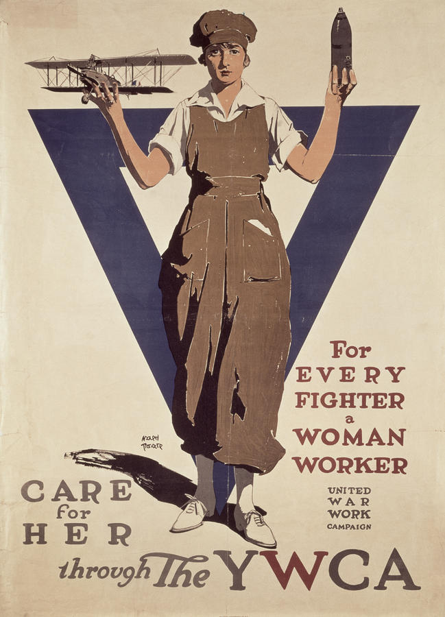 For Every Fighter A Woman Worker Painting  - For Every Fighter A Woman Worker Fine Art Print