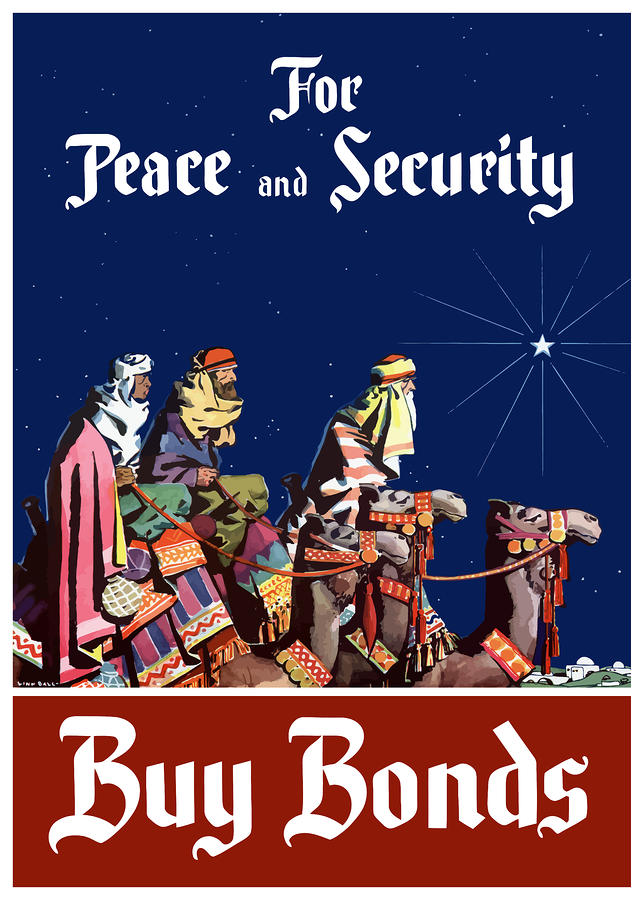 For Peace And Security Buy Bonds Painting  - For Peace And Security Buy Bonds Fine Art Print