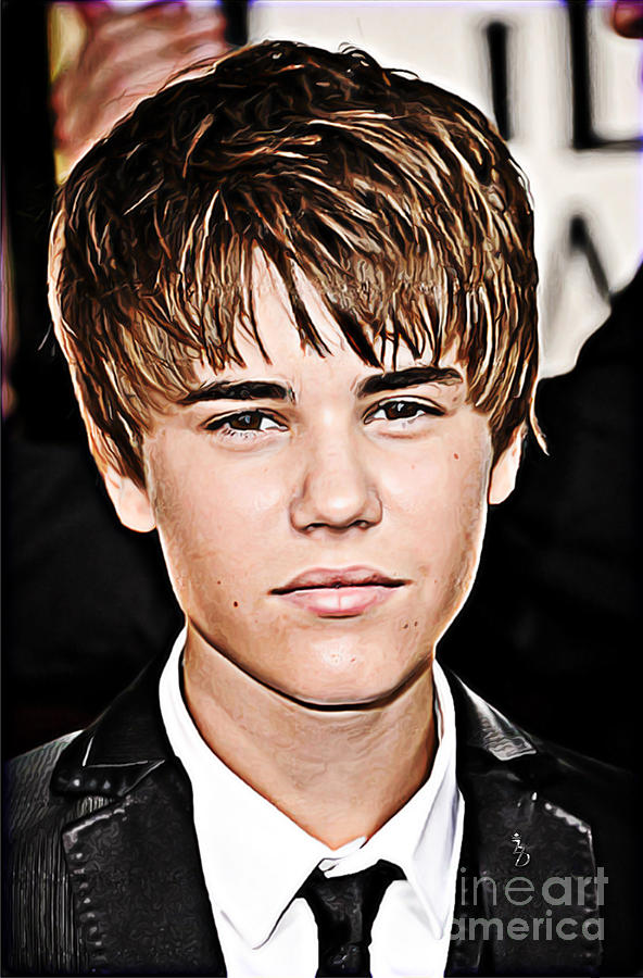 For The Belieber In You Digital Art  - For The Belieber In You Fine Art Print