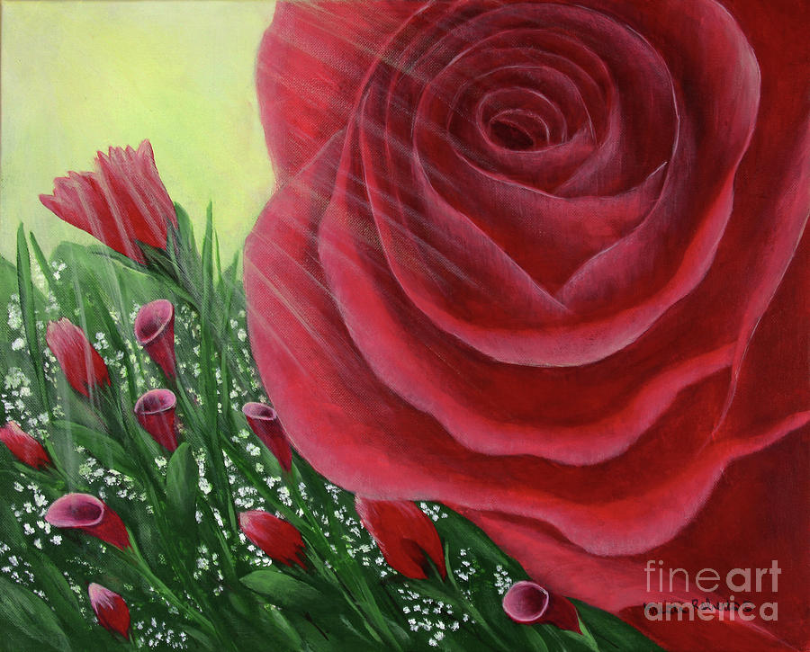 For The Love Of Roses Painting