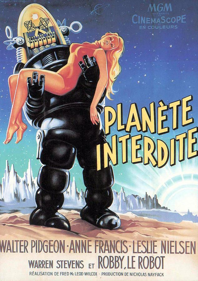 1950s Poster Art Photograph - Forbidden Planet, Robby The Robot by Everett
