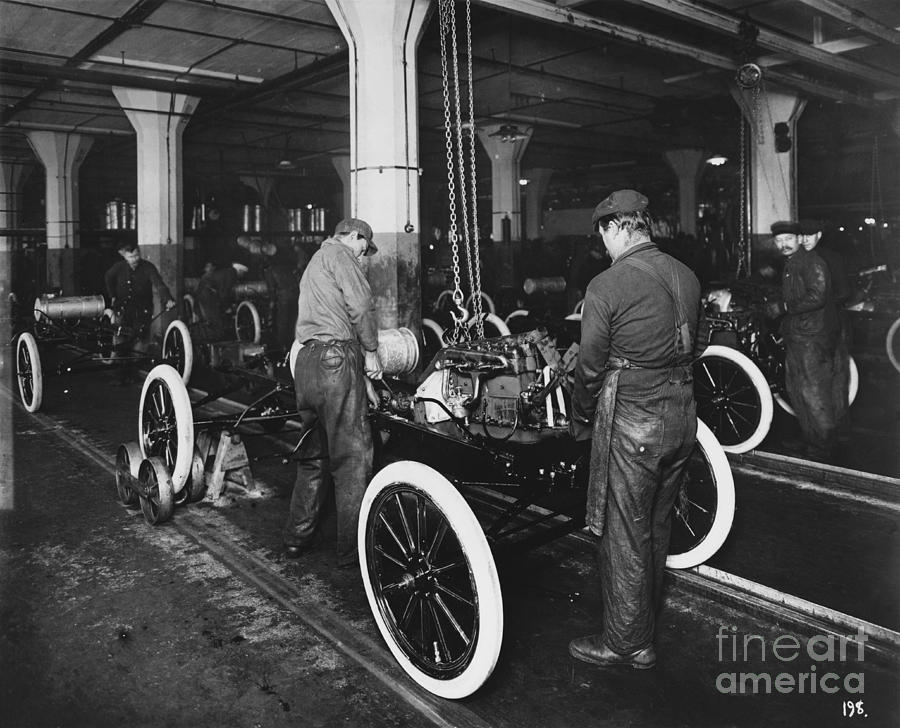 Ford Assembly Line Photograph