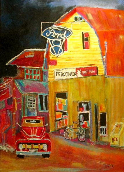 1951 Ford Pickup F1 Painting - Ford Petrocan by Michael Litvack