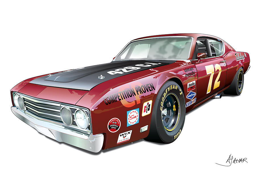 Ford Torino Talladega Digital Art