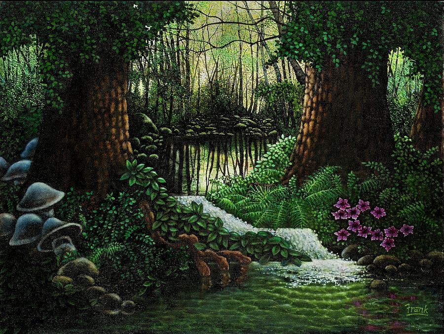 Forest Brook Painting  - Forest Brook Fine Art Print
