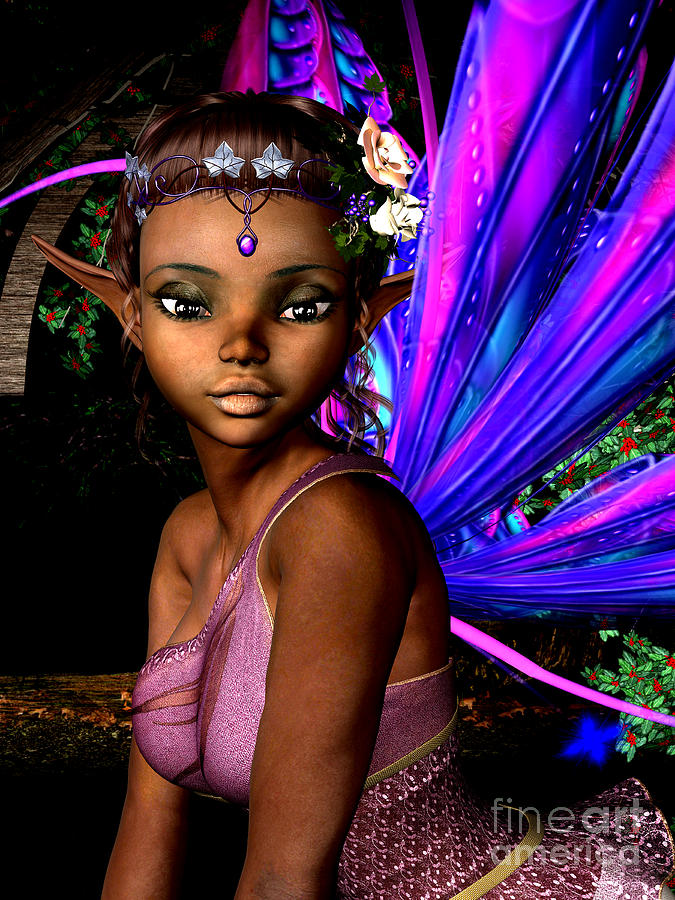 Forest Fairy Digital Art  - Forest Fairy Fine Art Print