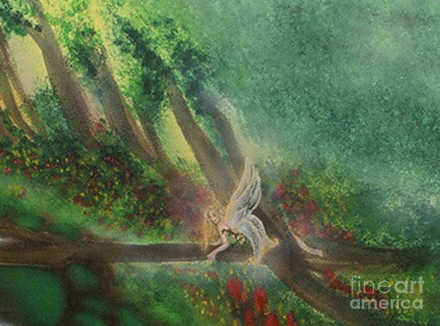 Forest fairy painting