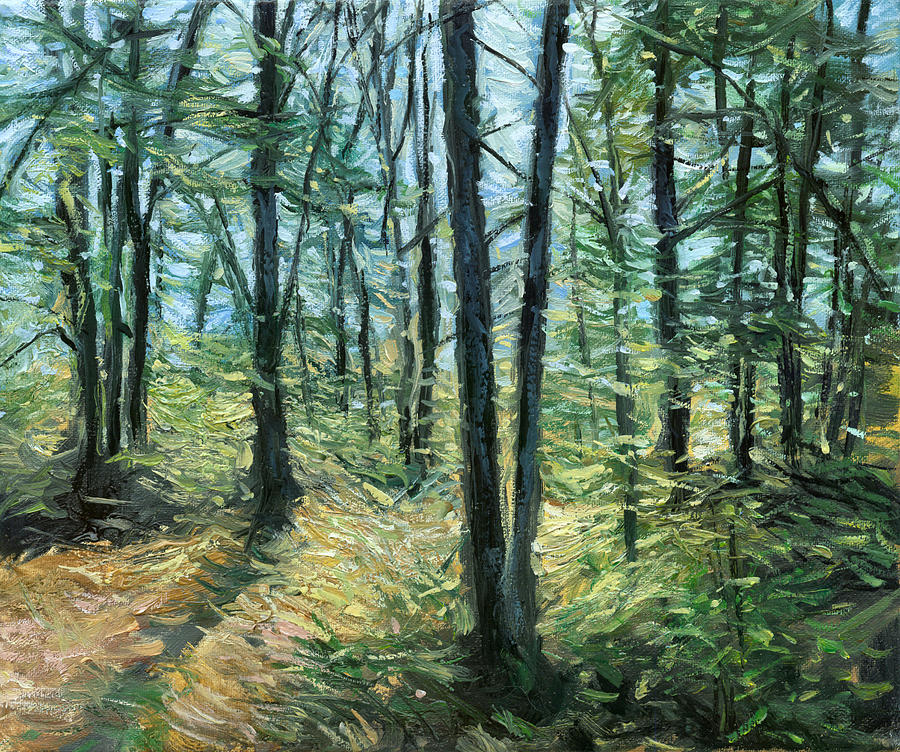 Forest In The Spring Painting