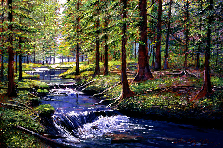 Forest Waters Painting  - Forest Waters Fine Art Print
