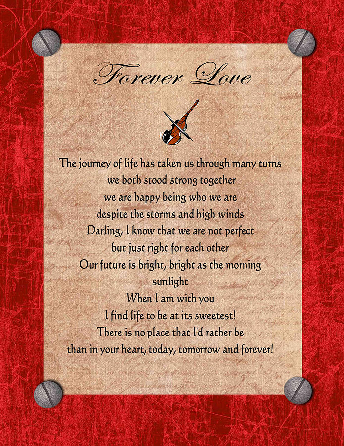 Forever Love Digital Art  - Forever Love Fine Art Print