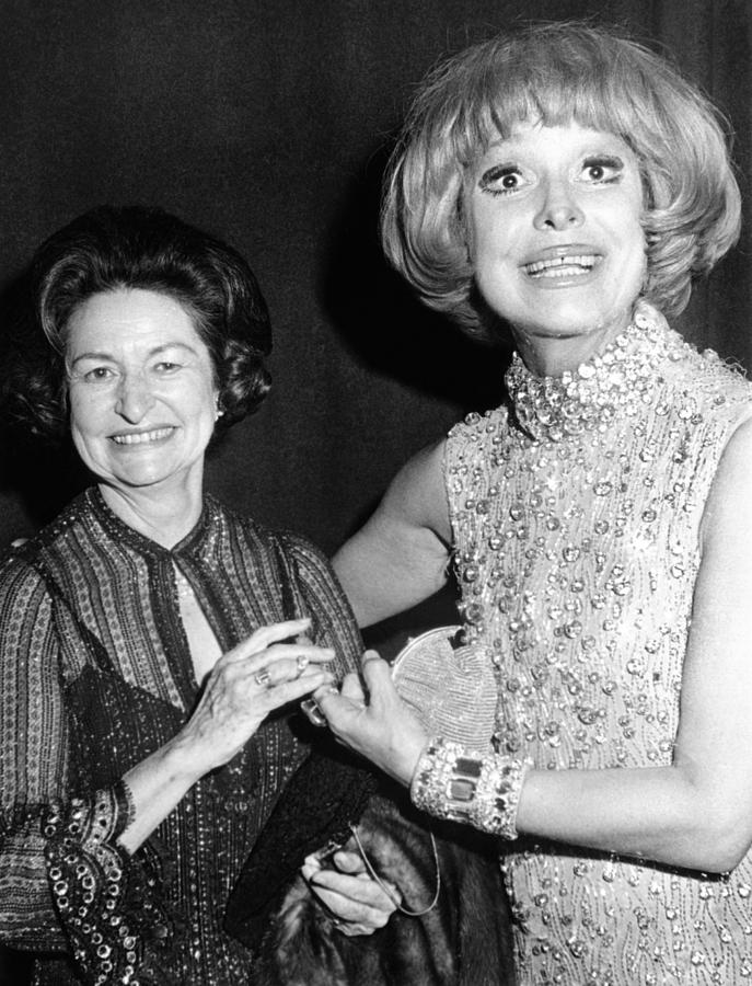 Former First Lady Visits Carol Channing Photograph  - Former First Lady Visits Carol Channing Fine Art Print