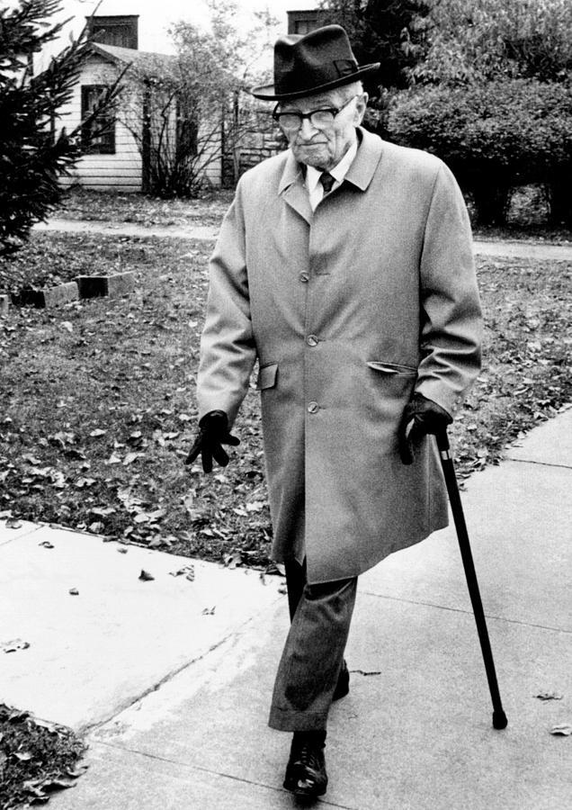Former President Harry Truman Walks Photograph