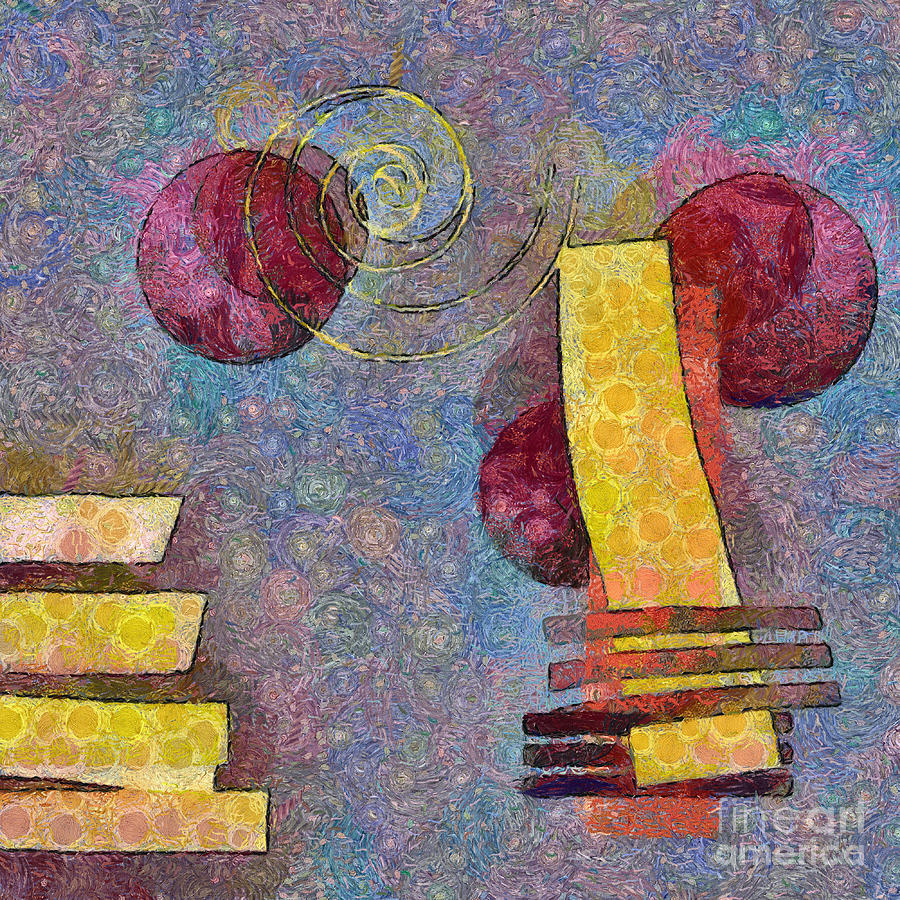 Pink Digital Art - Formes - 08a by Variance Collections
