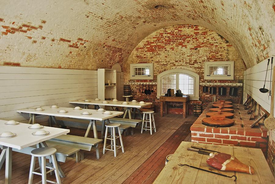 Carolina Photograph - Fort Macon Mess Hall_9078_3765 by Michael Peychich