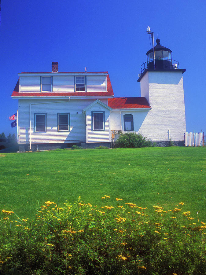 Fort Point Lighthouse Stockton Springs Photograph  - Fort Point Lighthouse Stockton Springs Fine Art Print