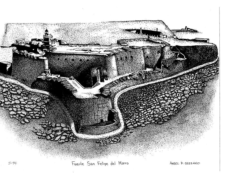 Fort San Felipe Del Morro Drawing