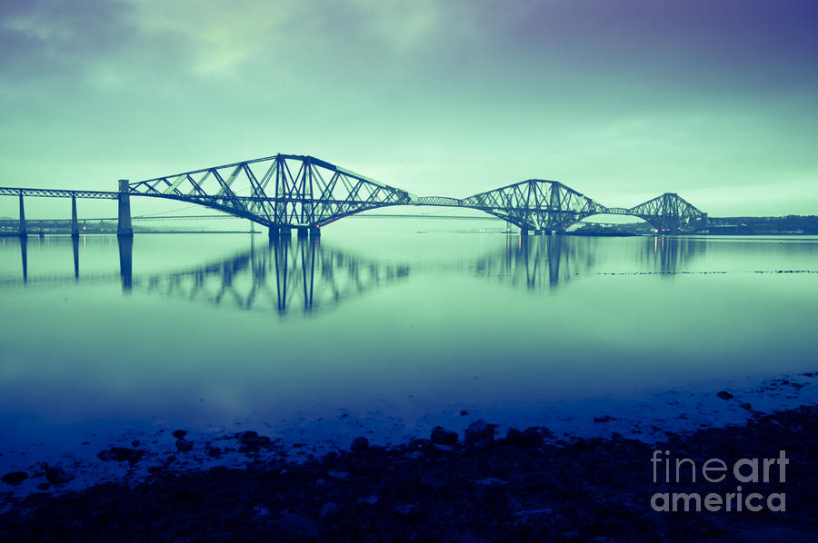 Forth Bridge Queensferry Edinburgh Photograph  - Forth Bridge Queensferry Edinburgh Fine Art Print